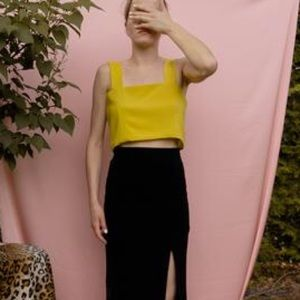 Auslä Studio Yellow Sulfur Crop Top XS